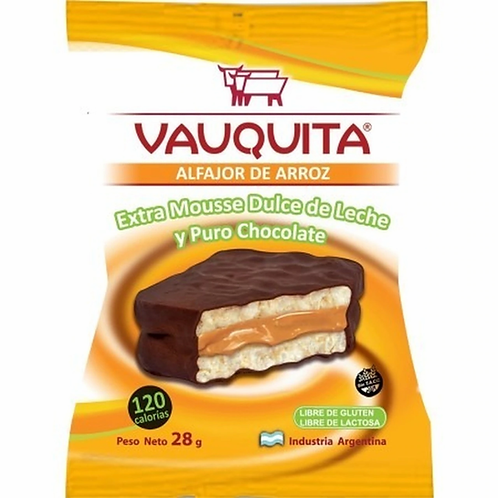 Vauquita alfajor rice filled with dulce de leche and covered in chocolate buy now tienda pachamama new zealand