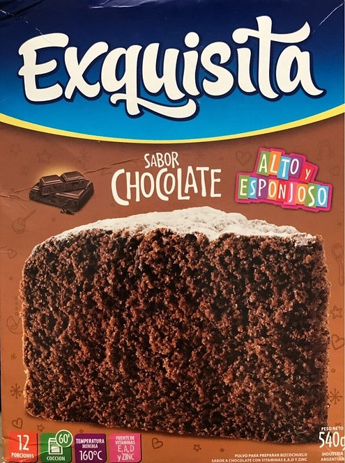 Powder mix to prepare chocolate cake exquisita bizcochuelo buy now tienda pachamama new zealand
