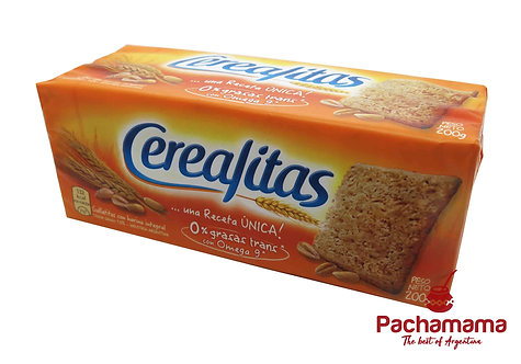 Cerealitas wholemeal cookies from argentina available in New Zealand at Pachamama