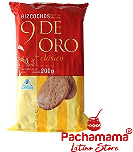 Bizcochos 9 de oro clasicos 200g salty bisquits