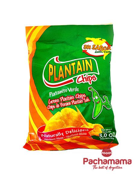 Su sabor plantain chips green