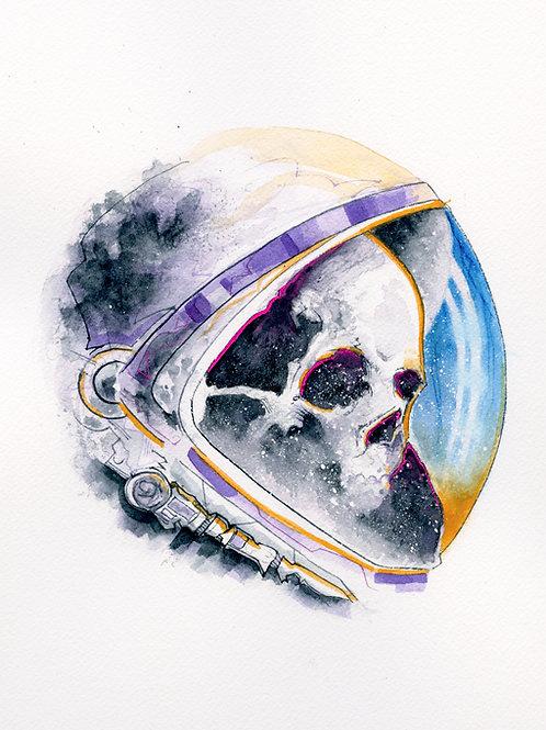 Skull Astronaut Print