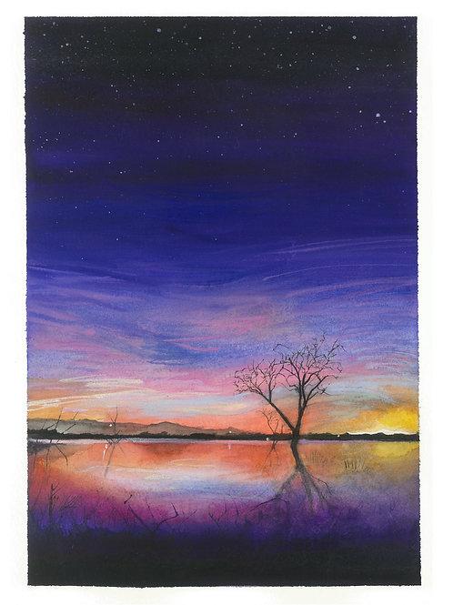 Sky Lake Print