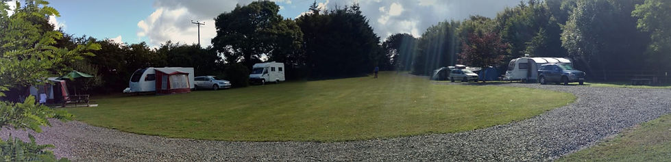 Panoramic view of Lane End Campsite