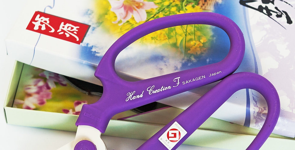 Japanese Floral Scissors-Purple-F170