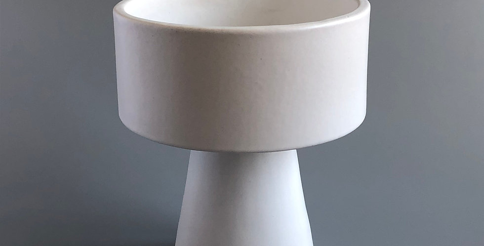 Japanese Ikebana Vase-Dzen-White