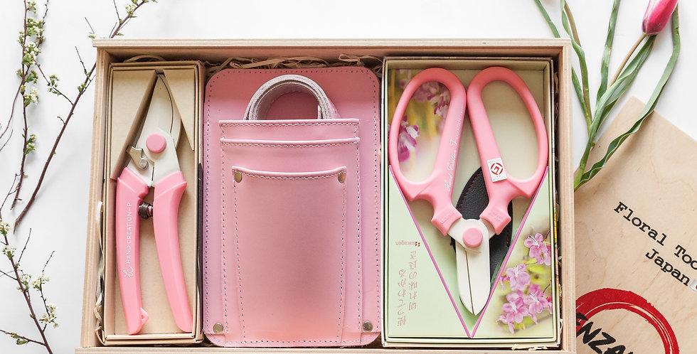 Floral Tool Box Gift Set/Pink Big