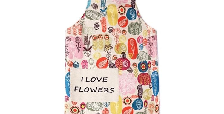 Floral Apron - I Love Flowers-
