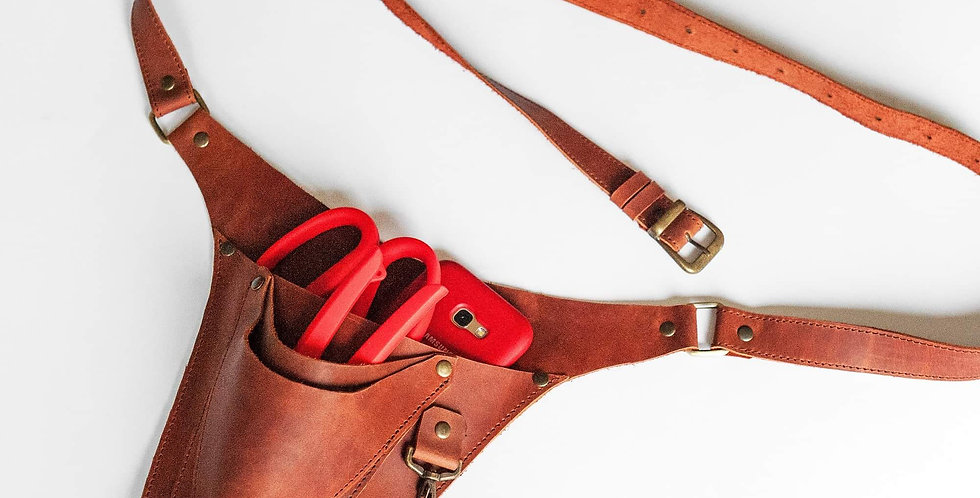 Leather Handcrafted Belt/Holster-Brown
