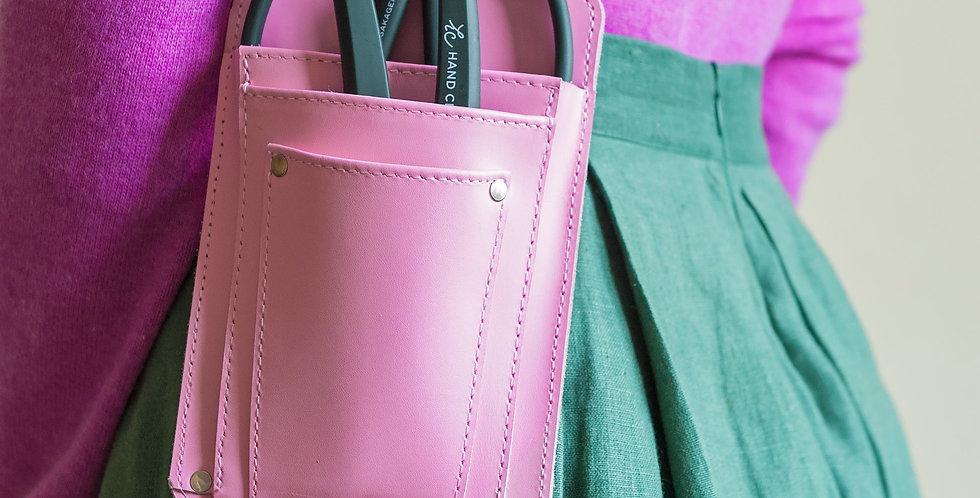 Handcrafted Letter Holster/Tool Belt Pink