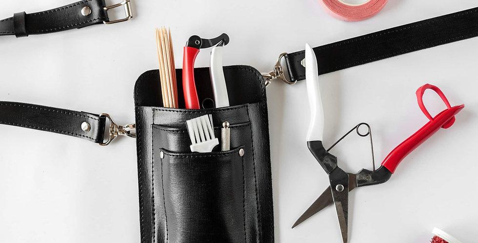 Handcrafted Leather Holster/Tool Belt Black