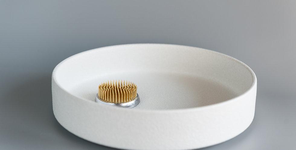 Japanese Ikebana Vase-Moribana-White Ceramic