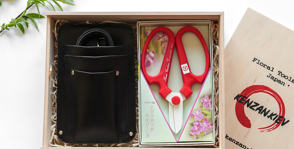 Floral Tool Box Gift Set/Black