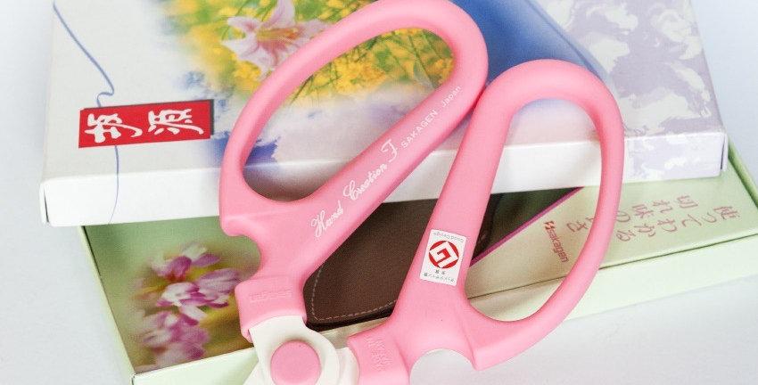 Japanese Floral Scissors-Pink-F170
