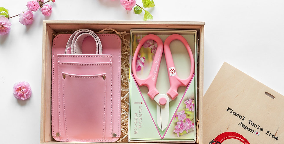 Floral Tool Box Gift Set/Pink