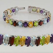 citrine-peridot-amethyst-blue-topaz-garnet-sterling-silver-925-bracelet-semi-precious-stone-rhodium-
