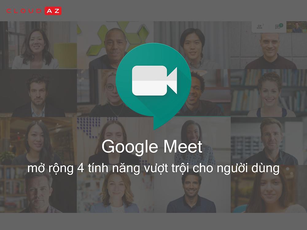 Google Meet mo rong 4 tinh nang moi