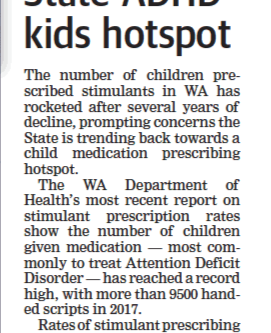 Boom time again for Perth's ADHD Industry as Roger Cook weakens amphetamine prescribing controls