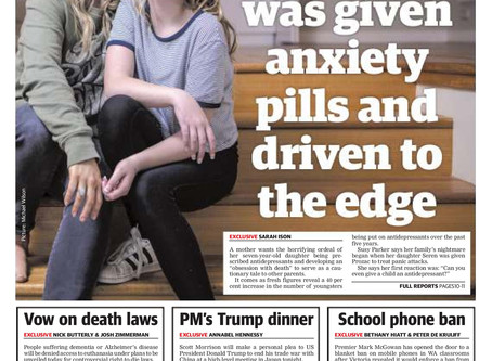 Dear PM- Re youth suicide and antidepressants. Please don't listen to the same failed local experts.