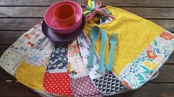 Lot de serviettes de table à nouer