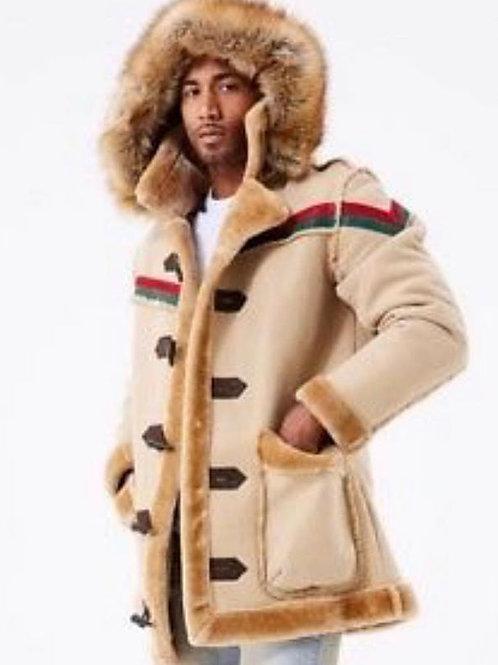 Men's Suede fur coat