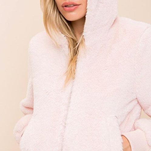 Fur bomber jacket