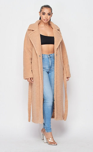 Long Sherpa coat