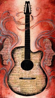 Guitar - Pop Art - SOLD
