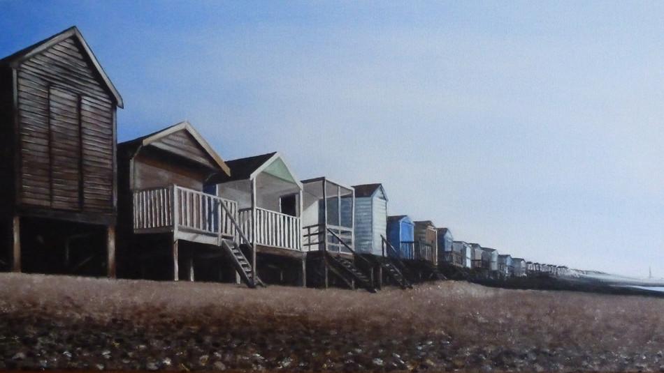 Beach Huts Panorama - SOLD