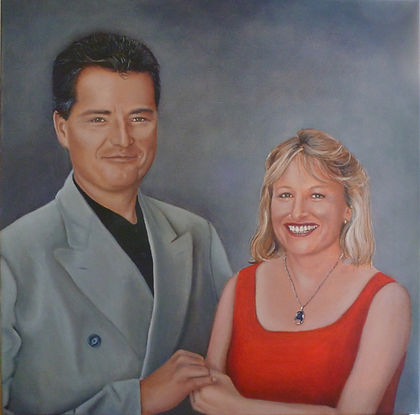 quality portrait commission of two family members