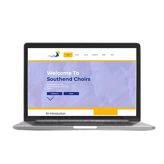 southend choirs website by reach online