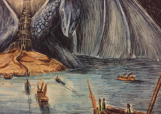 Shepherds dragon illustration