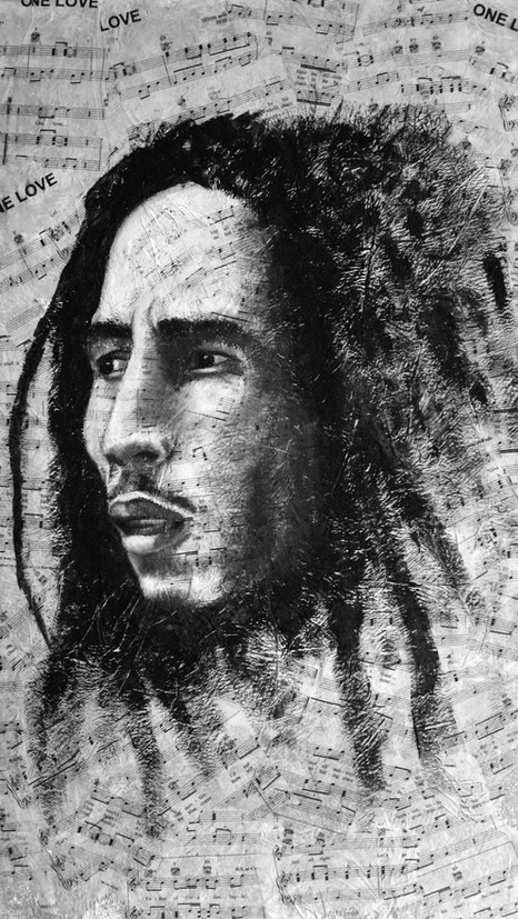 Bob Marley -Pop Art - SOLD