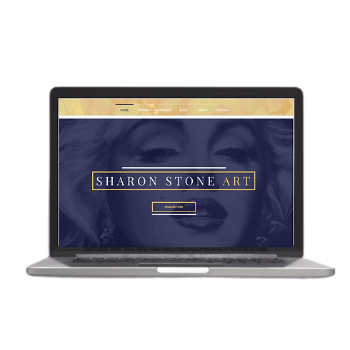 Sharon Stone Wix Redesign Example