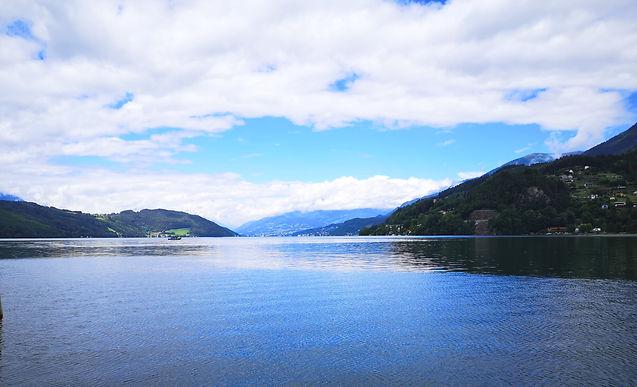 Blick auf den Millstätter See aus Döbriach