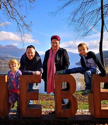 Familie Lassnig - Stefanie, Christian, Timo  und Nina aus Seeboden