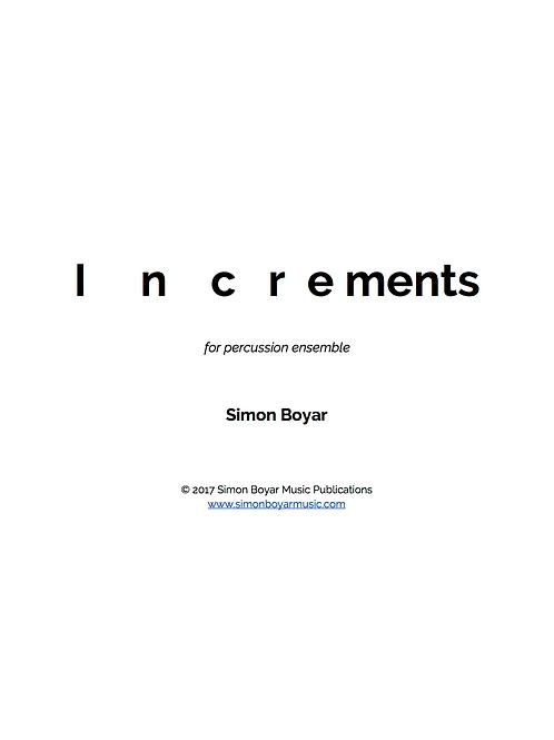 Increments For Percussion Ensemble - Digital Version