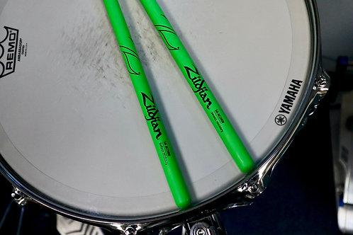 Zildjian 5A Acorn Neon Green Drumsticks