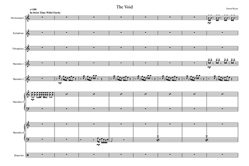 The Void For Percussion Ensemble - Digital Version