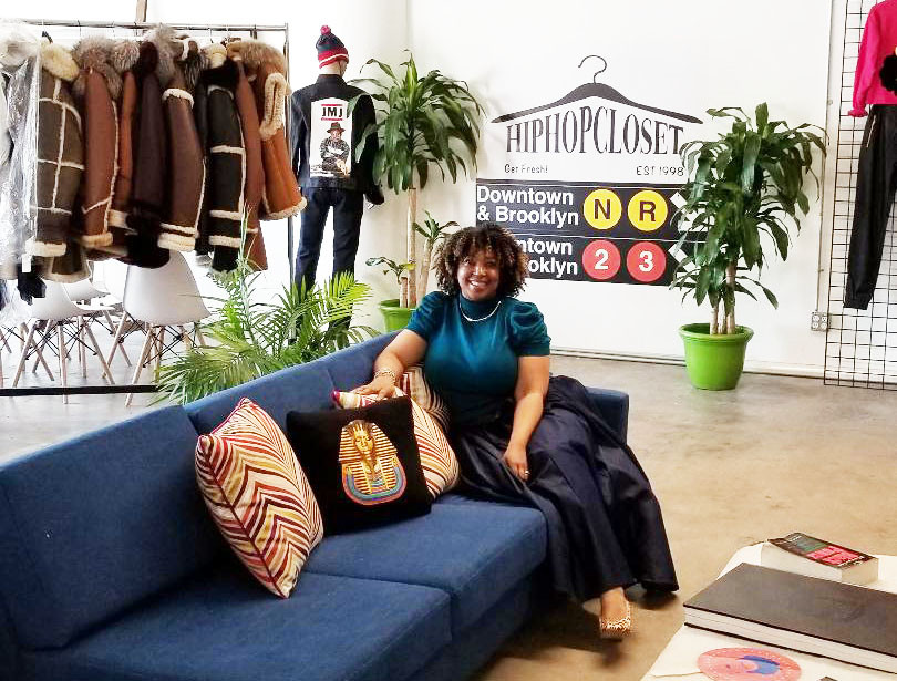 Hip Hop Closet co-owner, Kyiesha Kelly, an African American woman from Brooklyn
