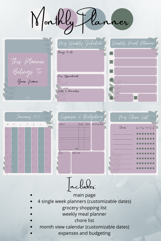 Planner Pinterest Pin 1