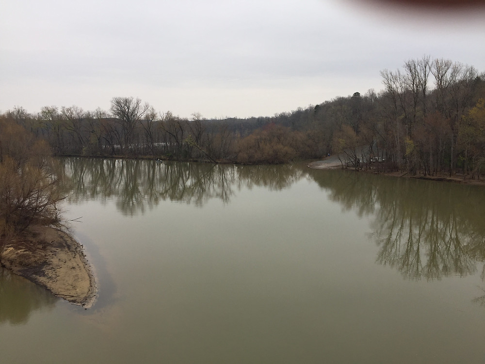 """Yadkin River- 2nd of 3 rivers which we crossed after Cowpens battle but when the British tried to cross there was a flood in """"The Race to the Dan"""""""