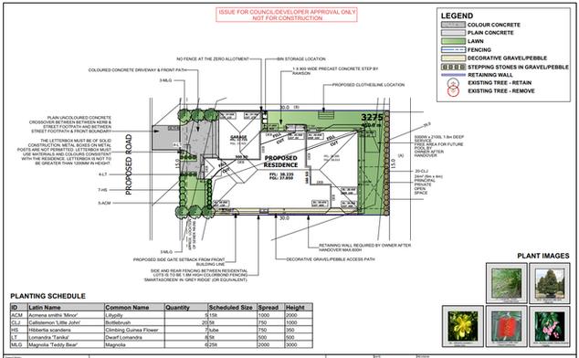 Landscape Plan for DA
