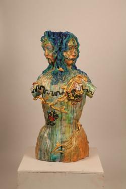 Ceramic Sculpture-La Diosa de mis Raices