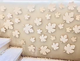 White Marble Flower Details