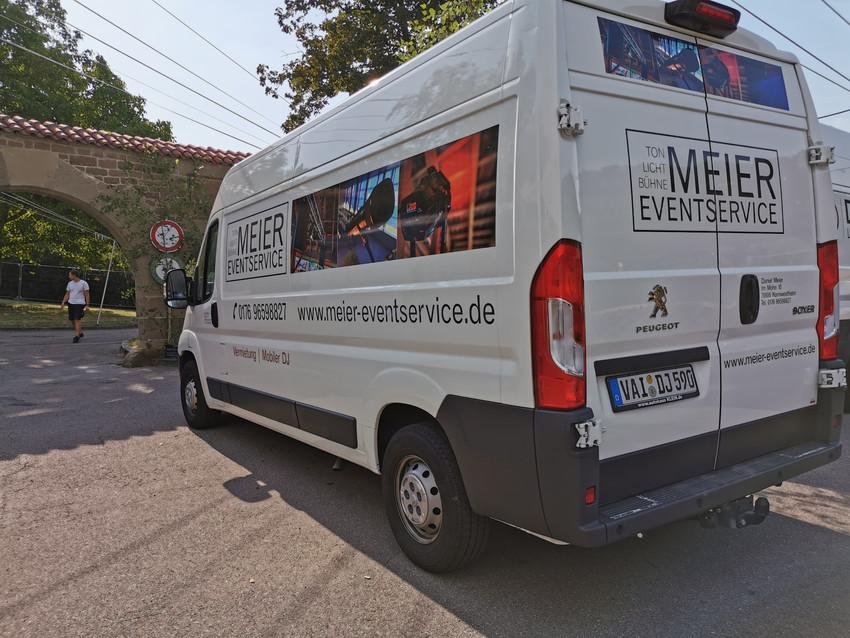 Weinbergfest Beilstein 2019 Firmenfahrzeug Meier Eventservice
