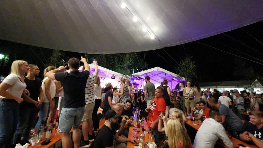 Band beim Weinbergfest Beilstein 2019 mit Meier Eventservice