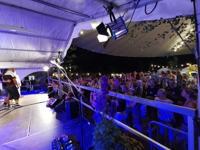 Bühne auf Weinbergfest Beilstein 2019 mit Meier Eventservice