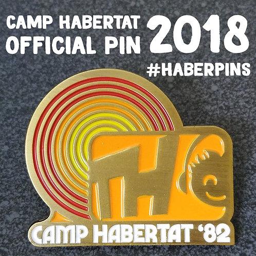 Official 2018 Camp Habertat pin