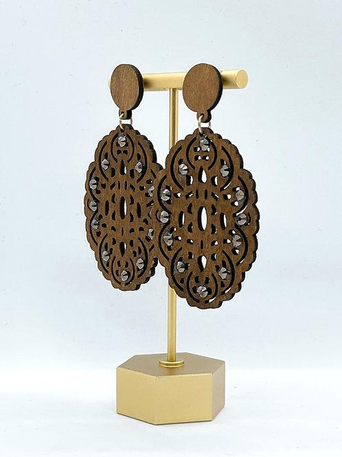 Down To Earth Oval Earrings